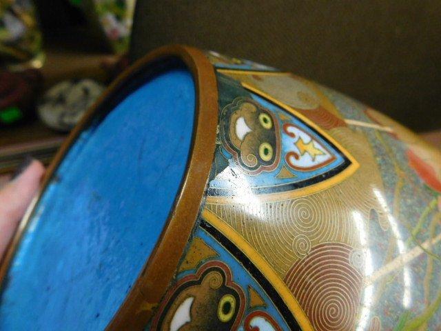 Antique Japanese Cloisonne Vase - 3