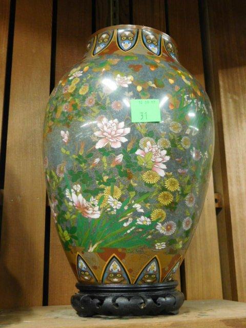 Antique Japanese Cloisonne Vase - 6