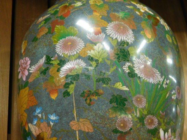 Antique Japanese Cloisonne Vase - 7