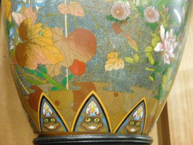 Antique Japanese Cloisonne Vase - 8