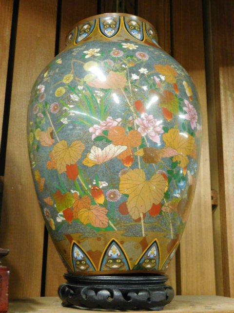 Antique Japanese Cloisonne Vase - 9
