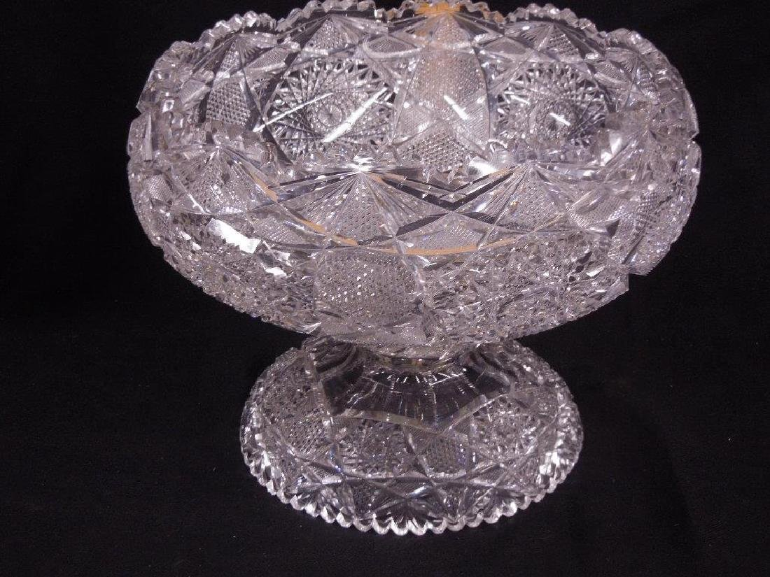 American Cut Glass Punch Bowl