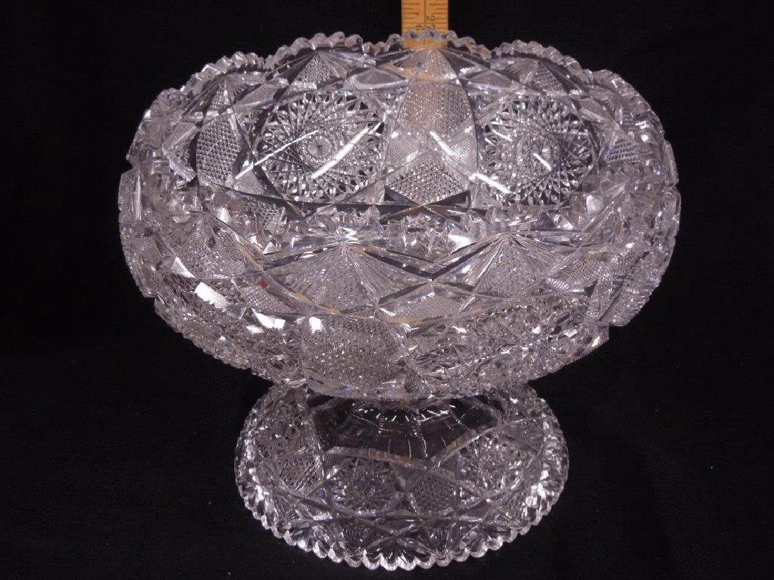 American Cut Glass Punch Bowl - 2