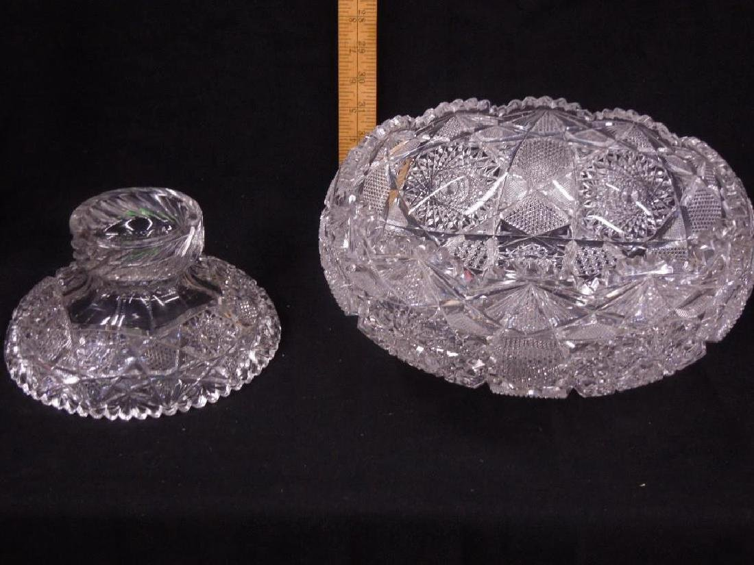 American Cut Glass Punch Bowl - 4