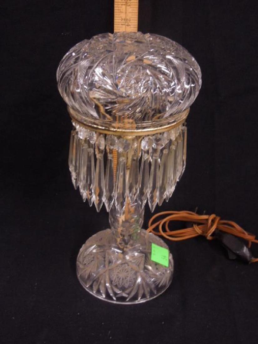 American Cut Glass Table Lamp - 2