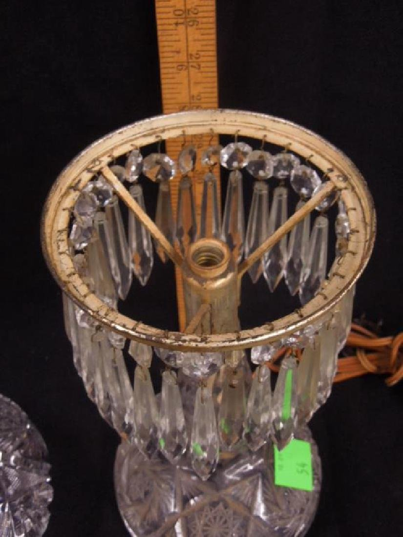 American Cut Glass Table Lamp - 4