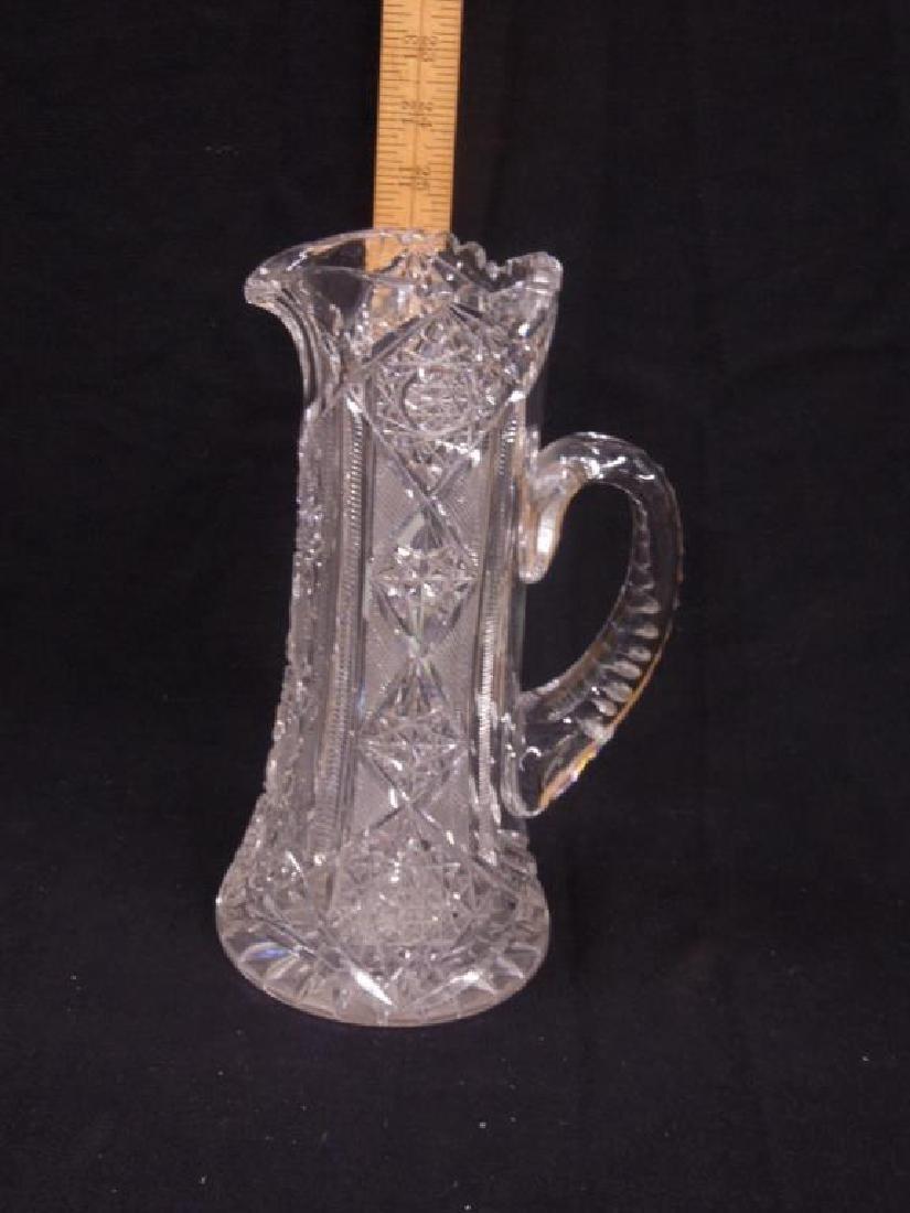 American Cut Glass Pitcher
