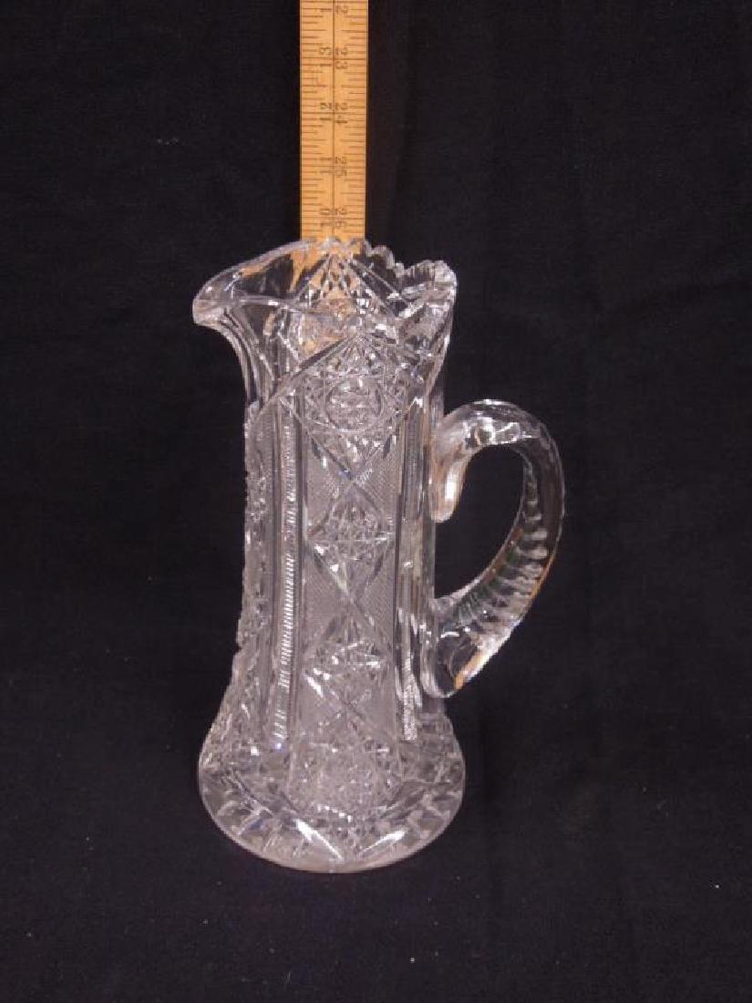 American Cut Glass Pitcher - 2