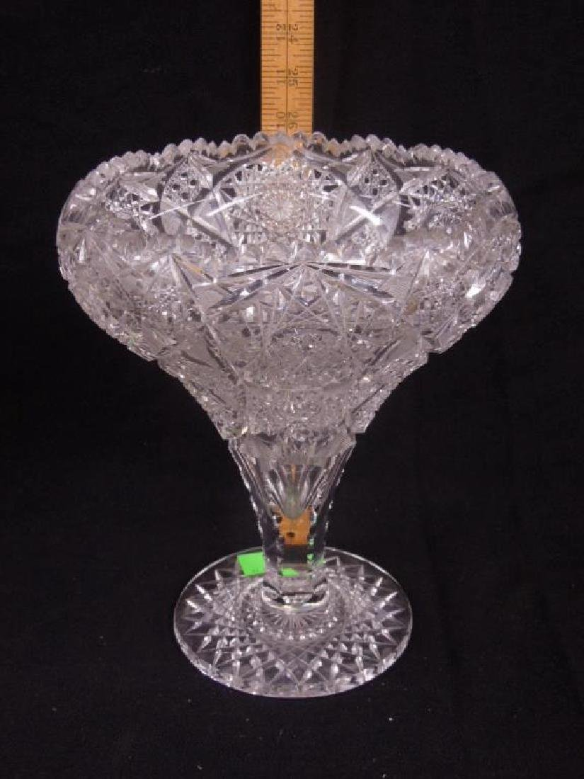 American Cut Glass Vase