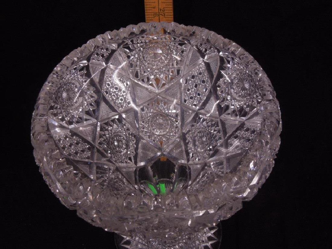 American Cut Glass Vase - 3