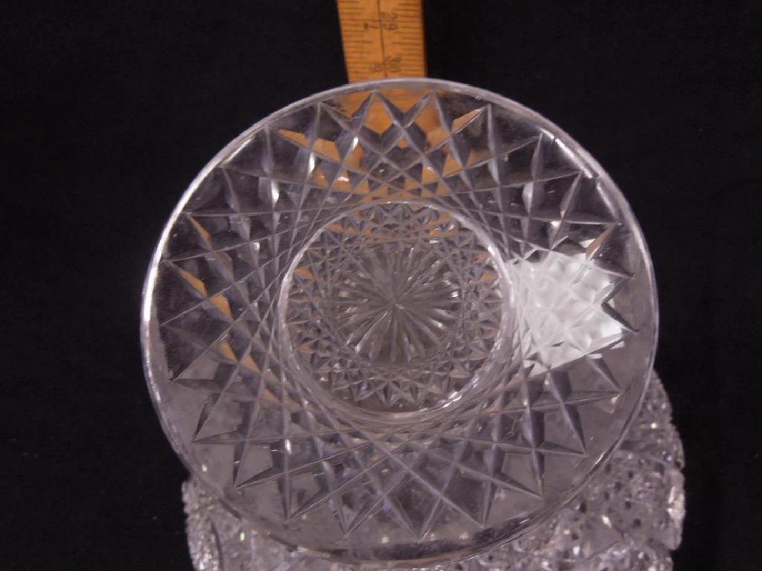 American Cut Glass Vase - 4