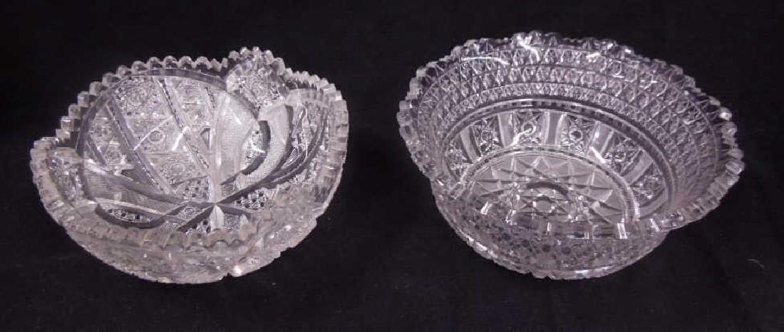 American Cut Glass Bowls - 2
