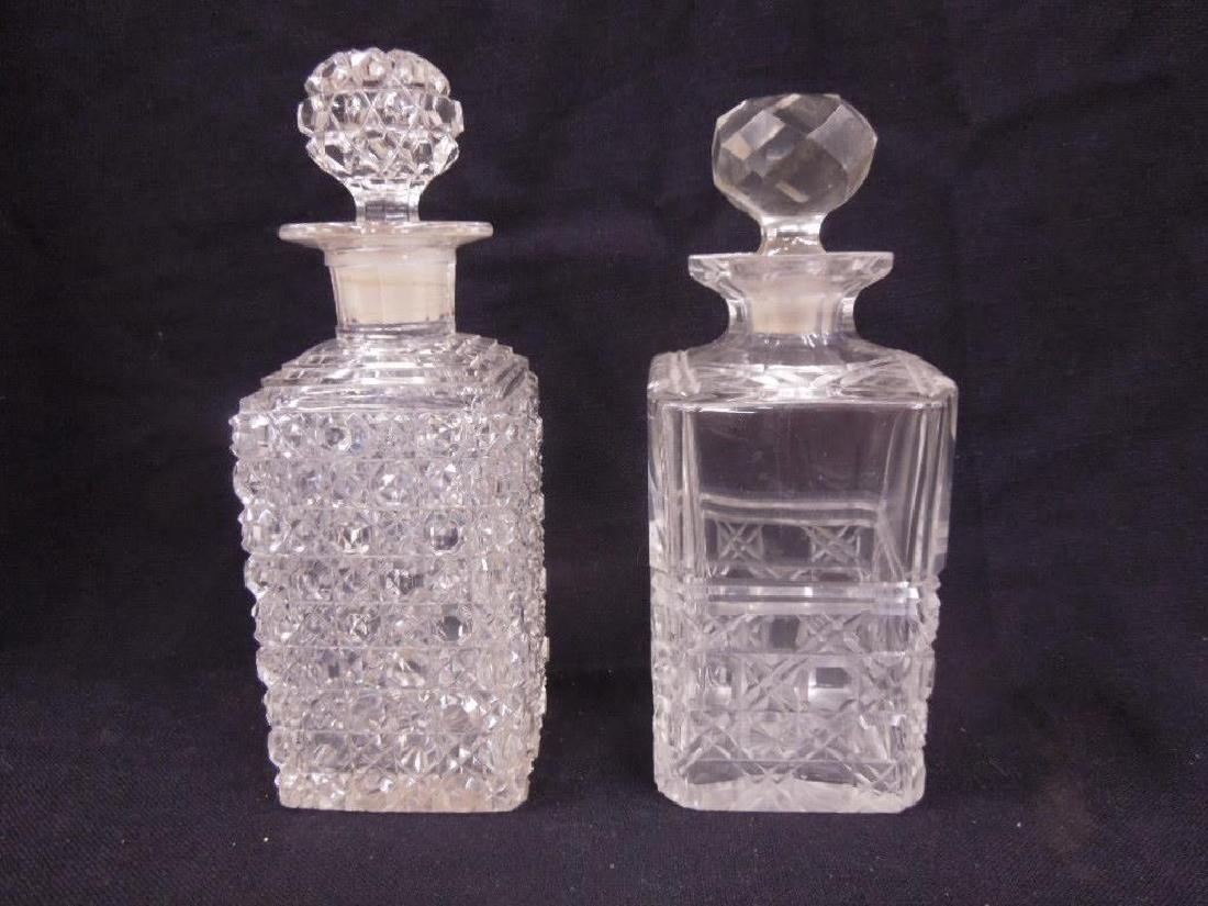 Two American Cut Glass Decanters