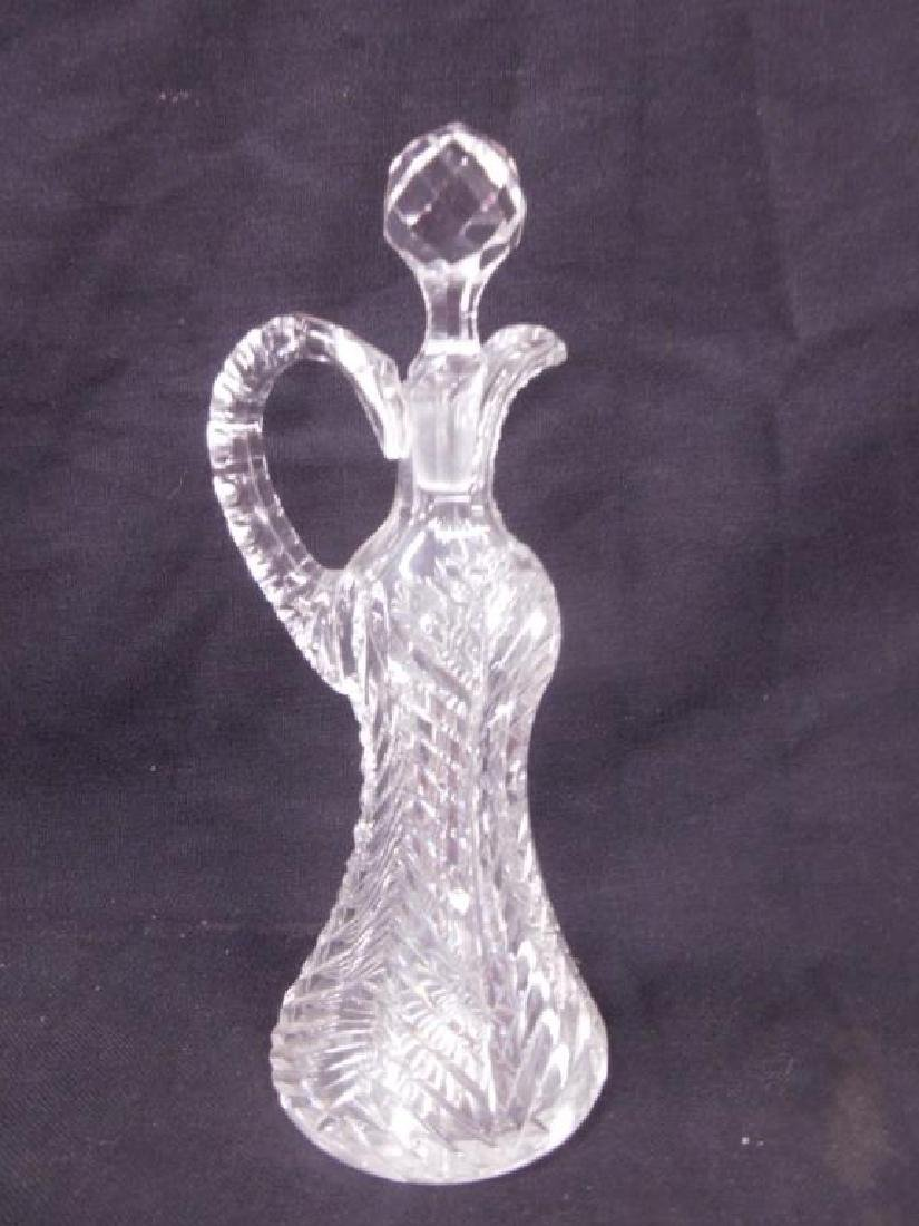 American Cut Glass Oil Cruet Bottle