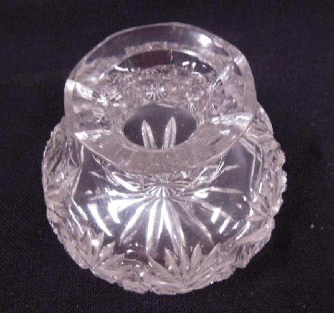 Cut Glass Miniature Flower Center - 2