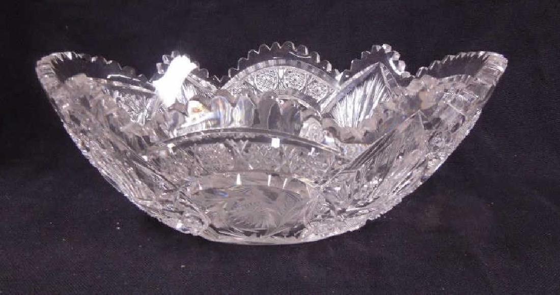 American Cut Glass Banana Bowl