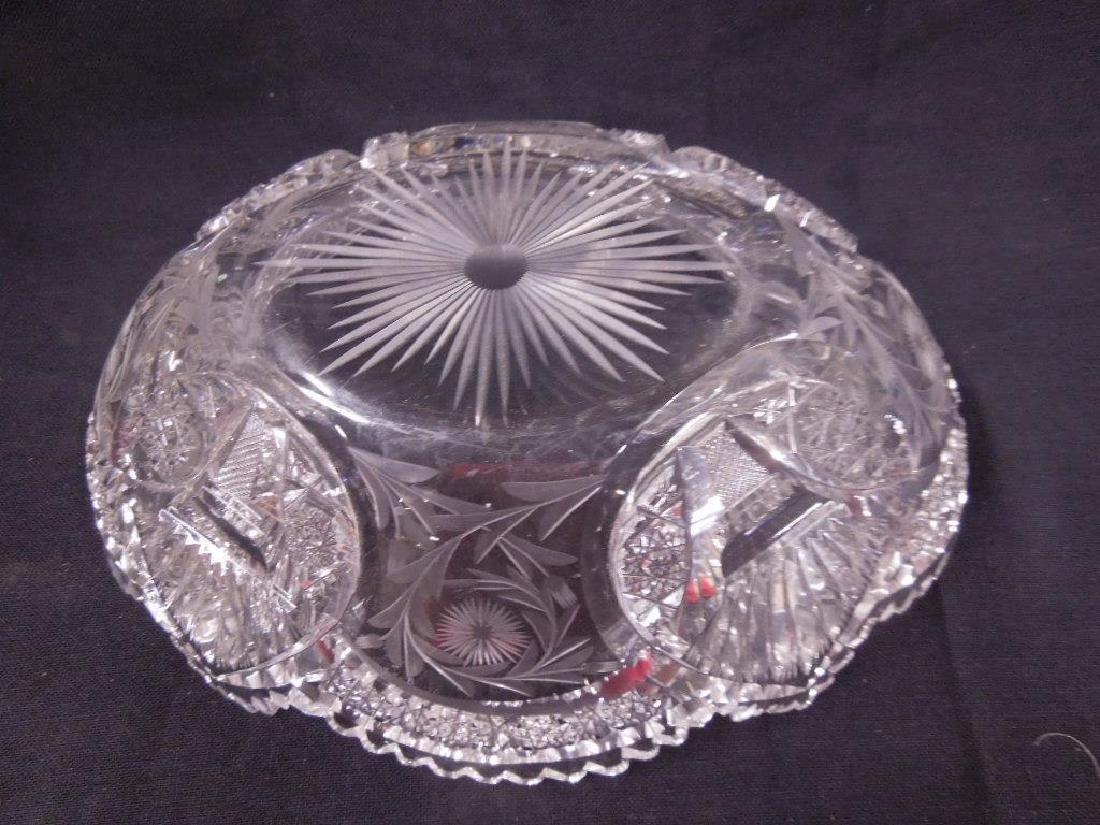 American Cut Glass Banana Bowl - 4