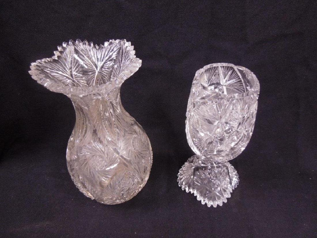 Two American Cut Glass Vases - 2