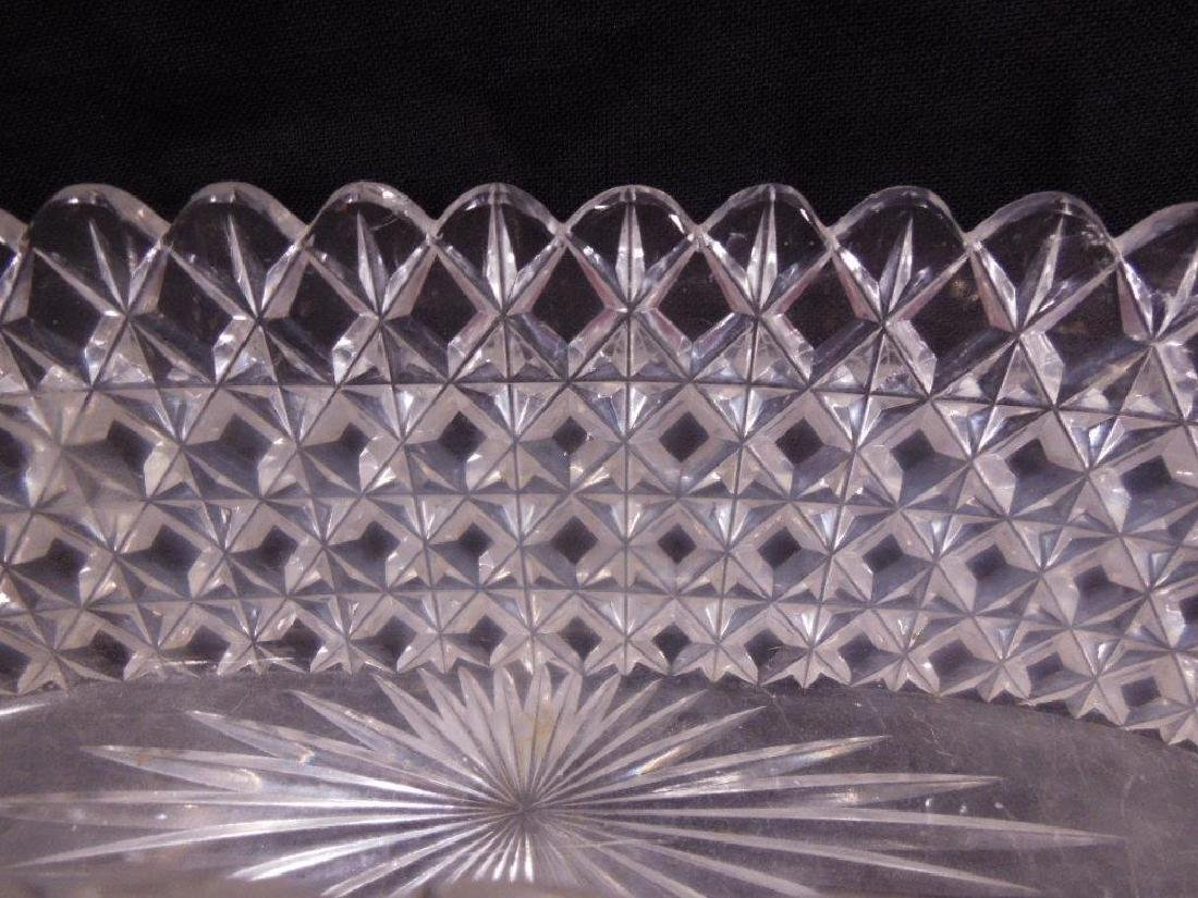 Two American Cut Glass Celery Trays - 5
