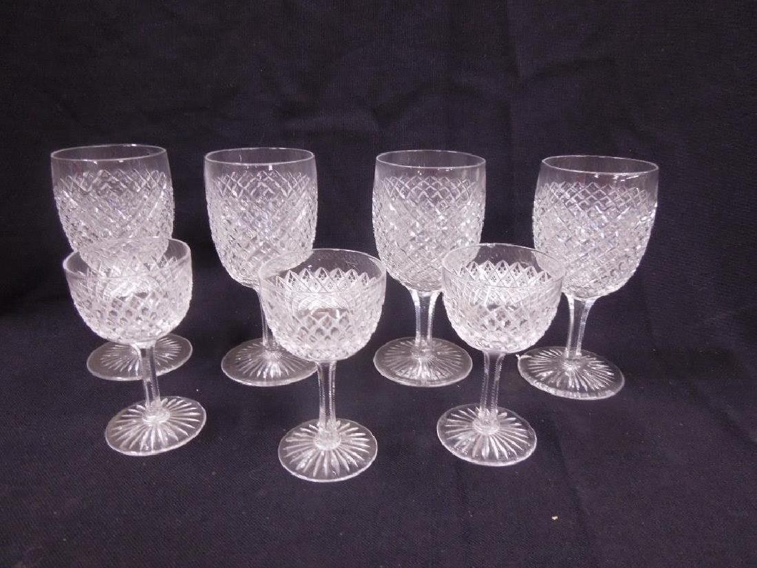 7 pcs, American Cut Glass Stemware