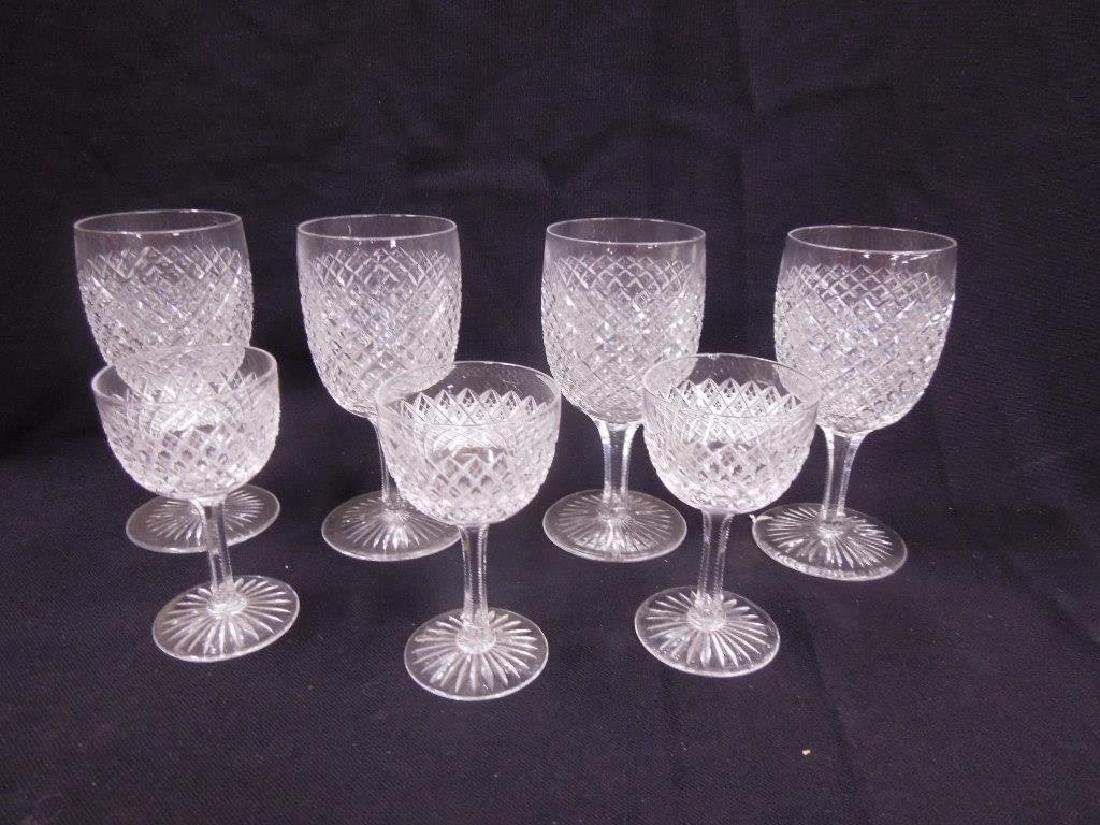 7 pcs, American Cut Glass Stemware