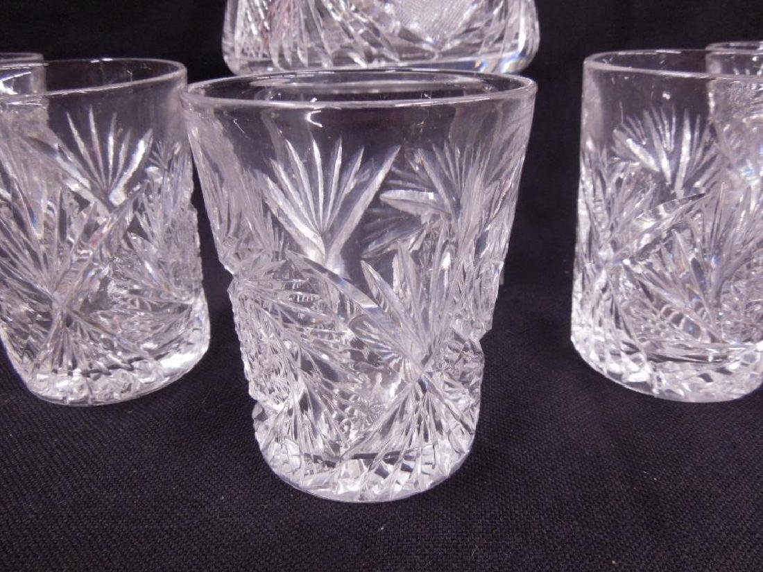 American cut Glass Pitcher & Tumblers Set - 3