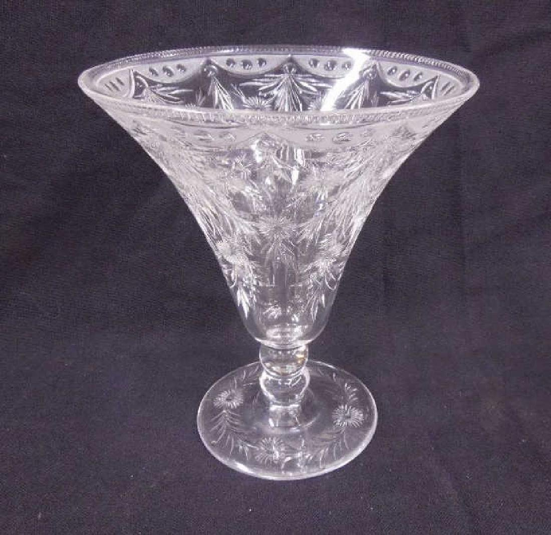 Pairpoint Intaglio Cut Glass Vase