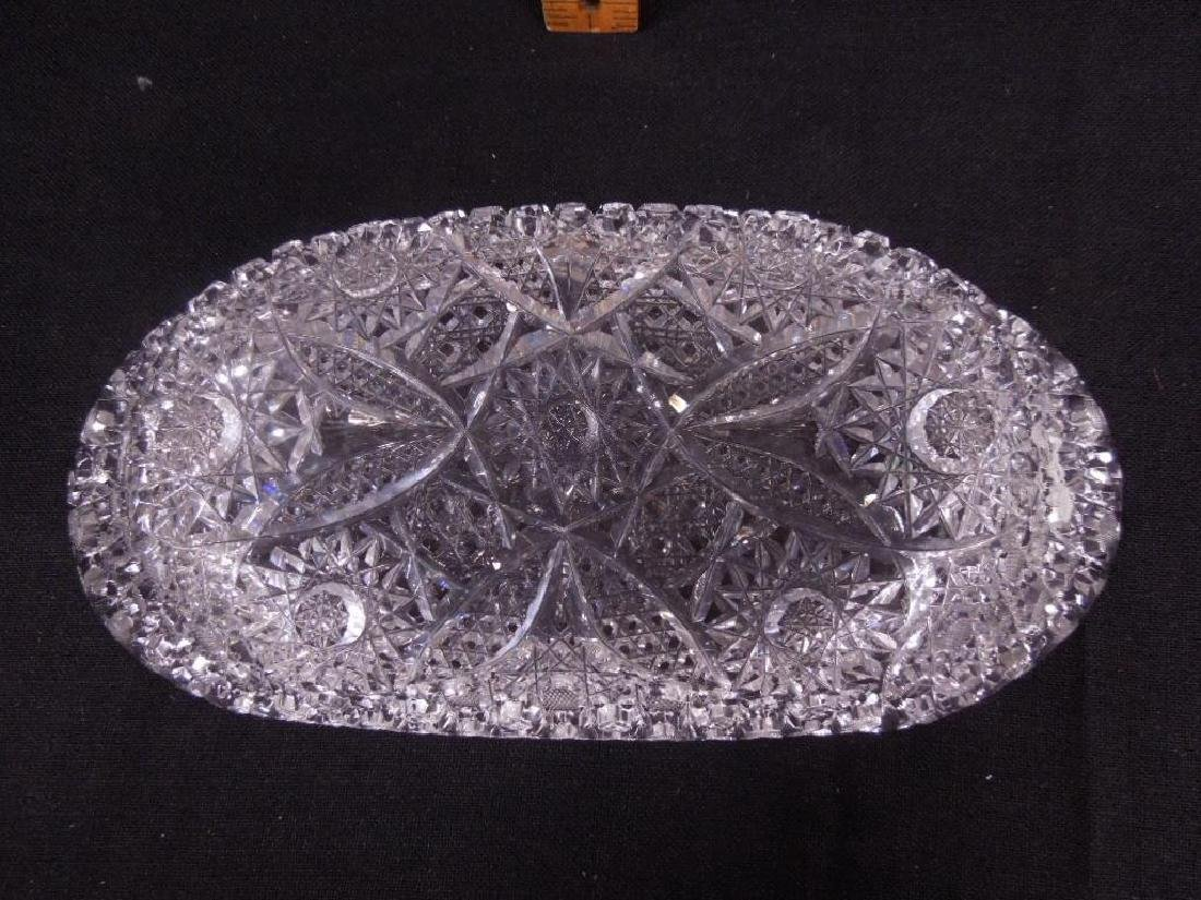 Two American Cut Glass Celery Trays - 7