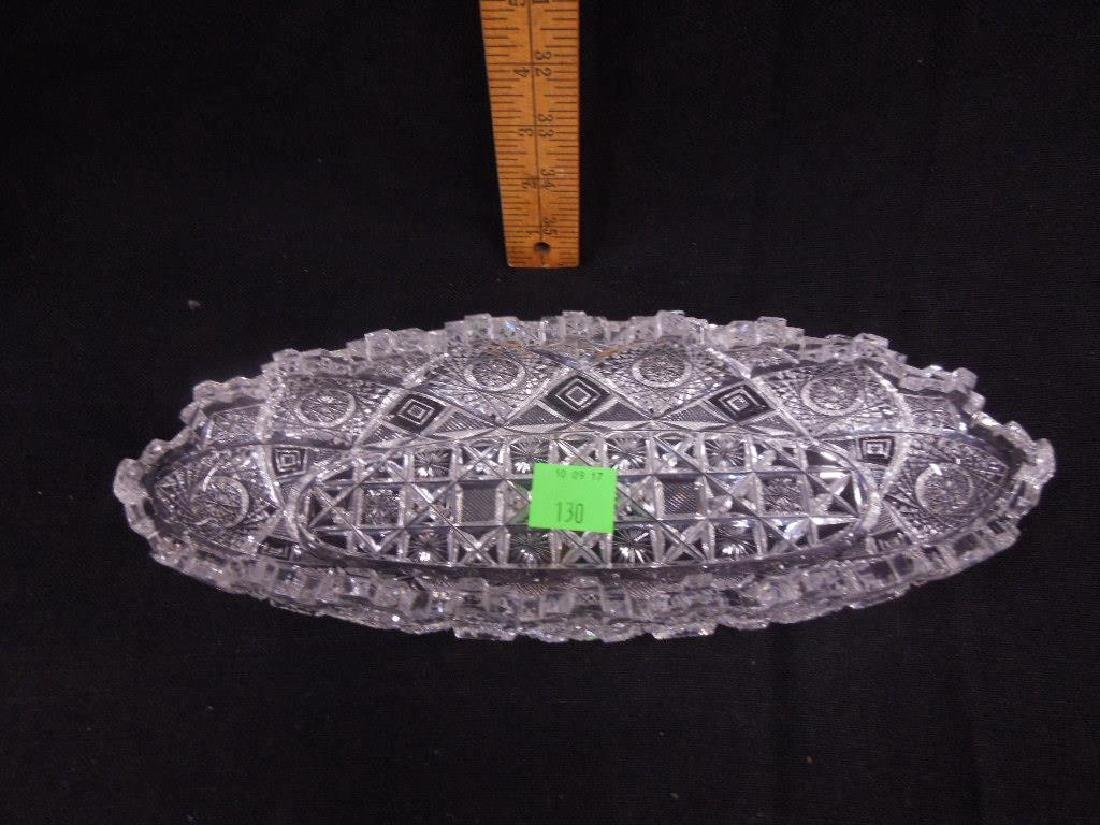 Two American Cut Glass Celery Trays - 6