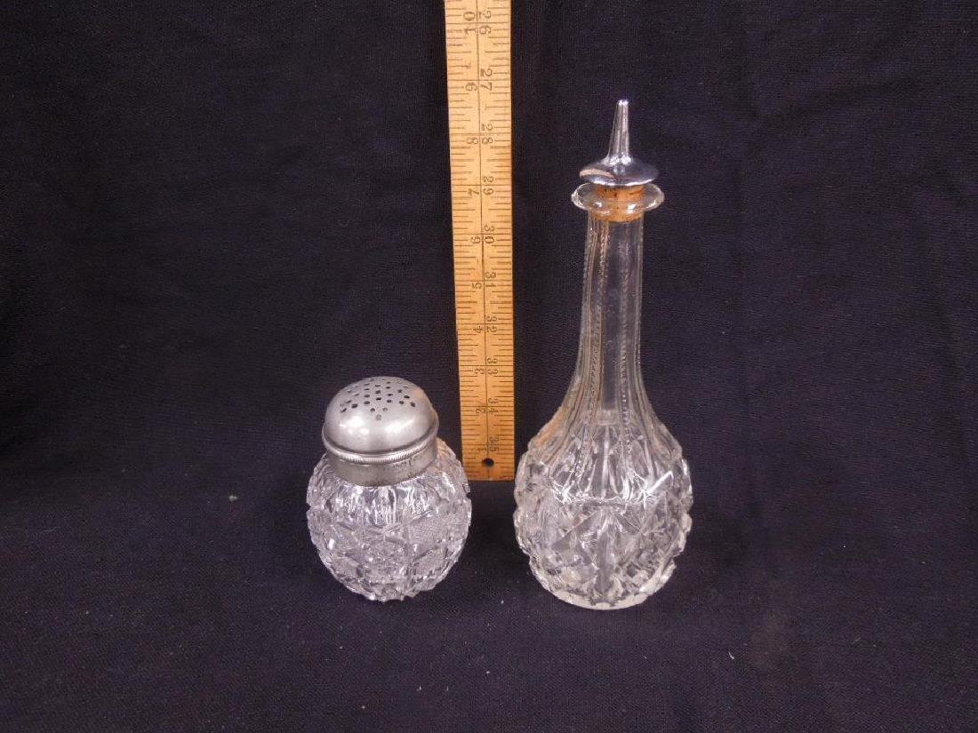American Cut Glass Muffineer & Bitters Bottle