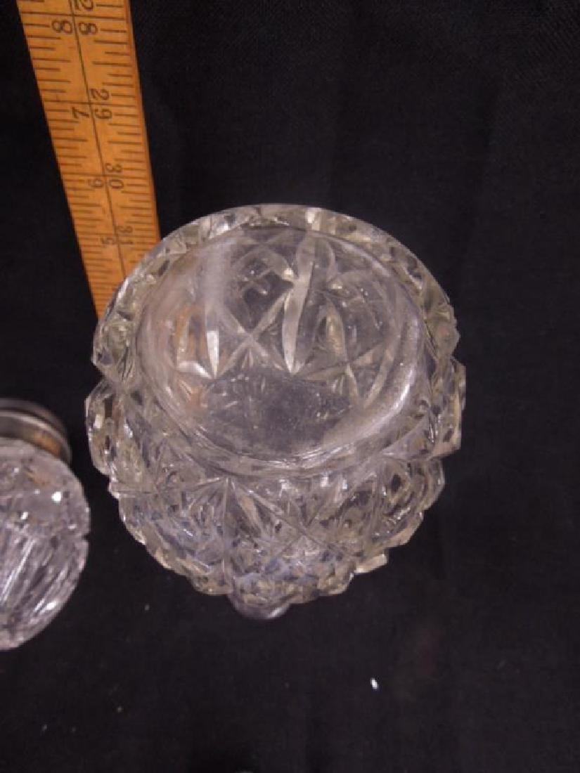 American Cut Glass Muffineer & Bitters Bottle - 6