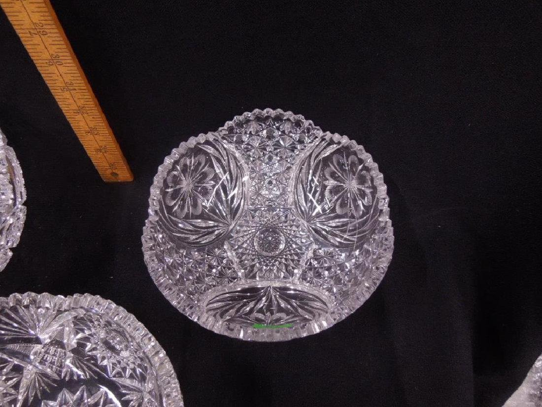 Three American Cut Glass Bowls - 3