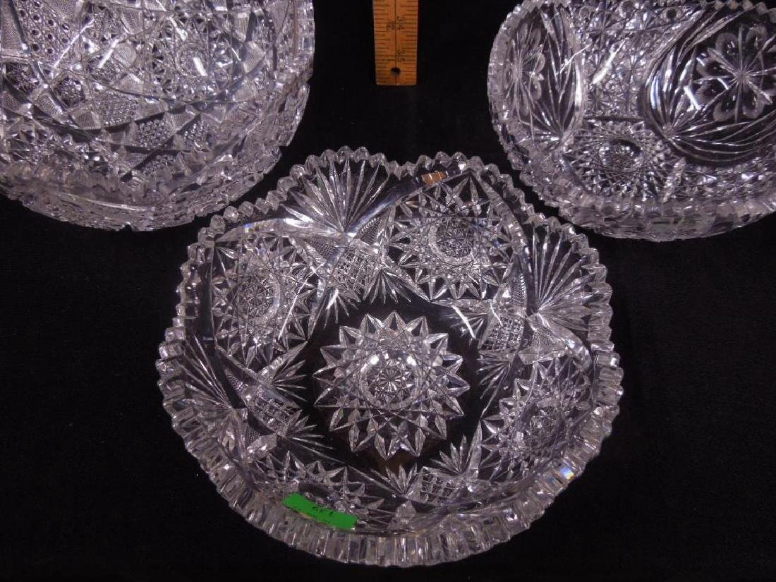 Three American Cut Glass Bowls - 4