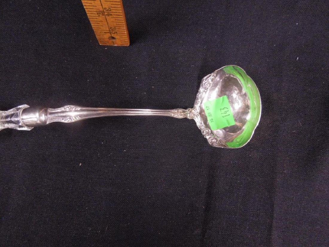 American Cut Glass & Silverplate Ladle - 2