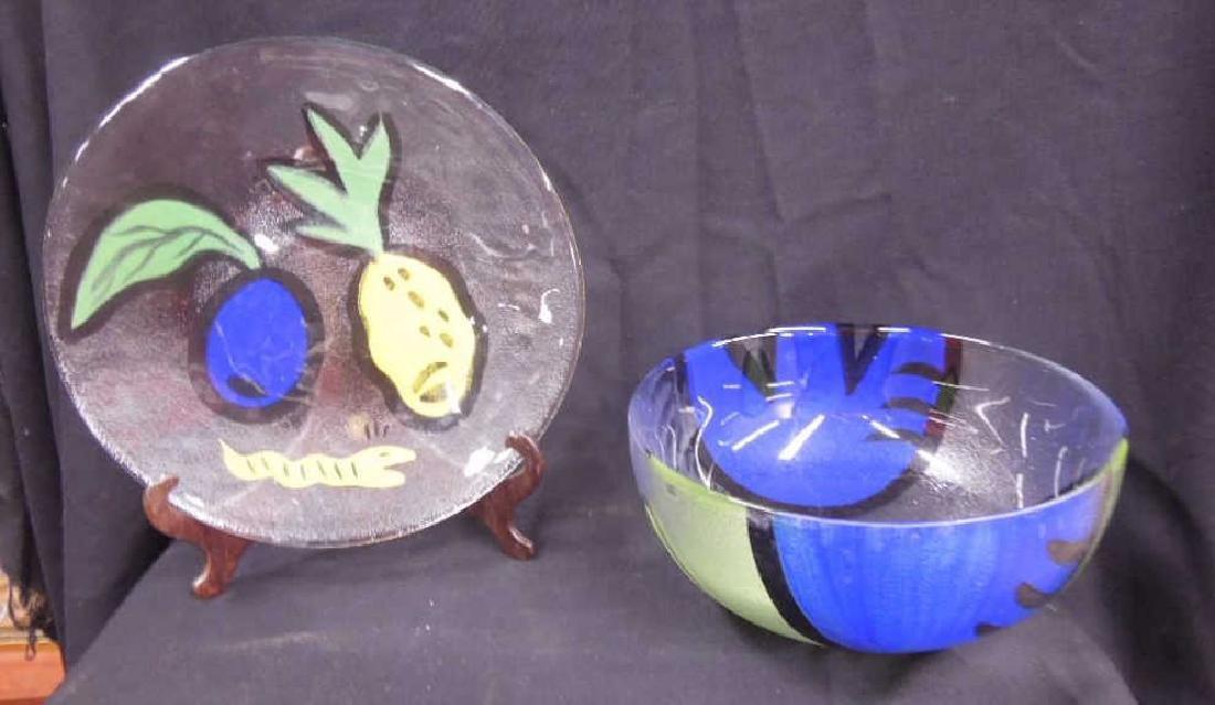 Ulrica Hydman-Vallien Serving Bowl & Plate