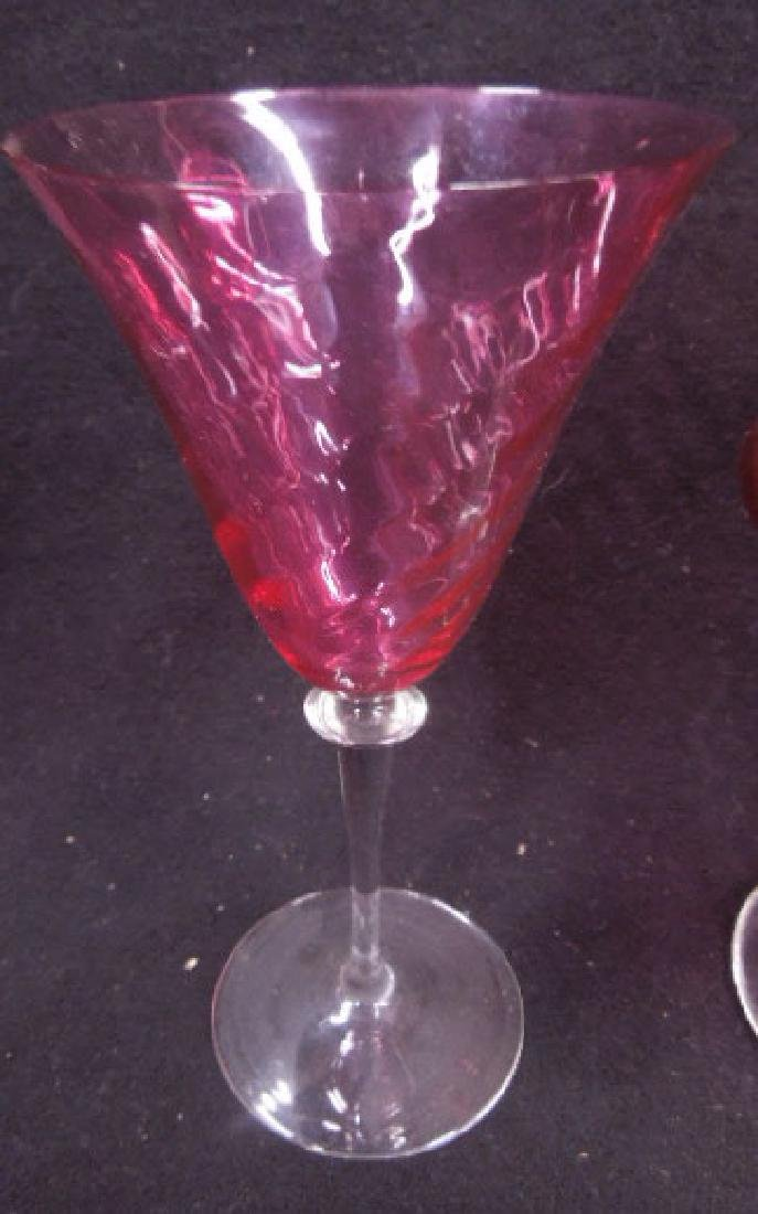 Cranberry Decanter & Goblets - 2