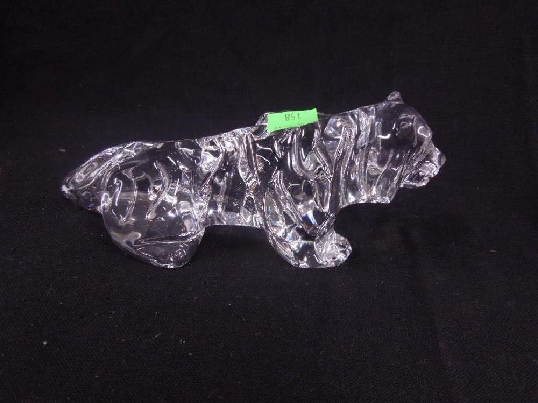 Baccarat Crystal Glass Tiger