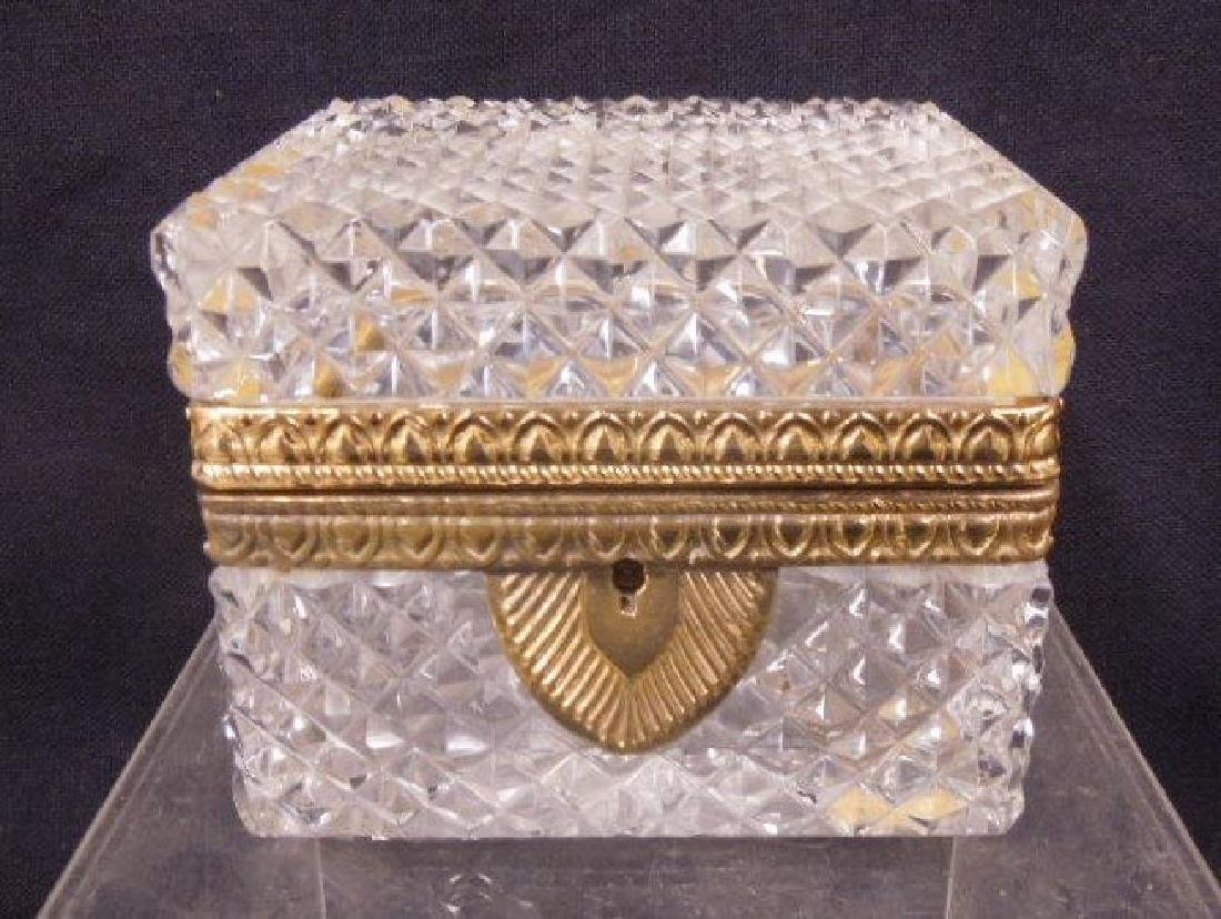 French Glass Hinged Box