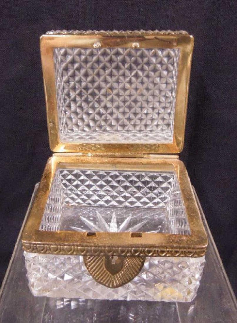 French Glass Hinged Box - 2