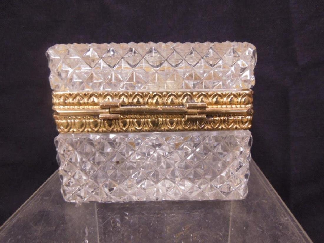 French Glass Hinged Box - 3