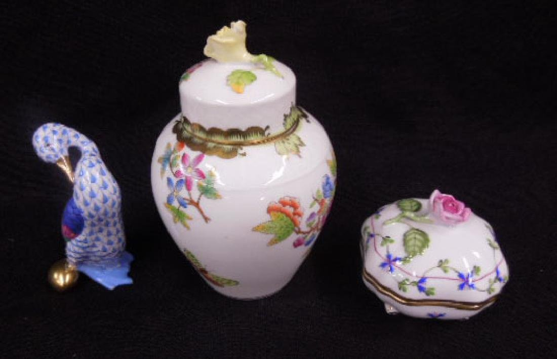 Contemporary Herend Porcelain Lot