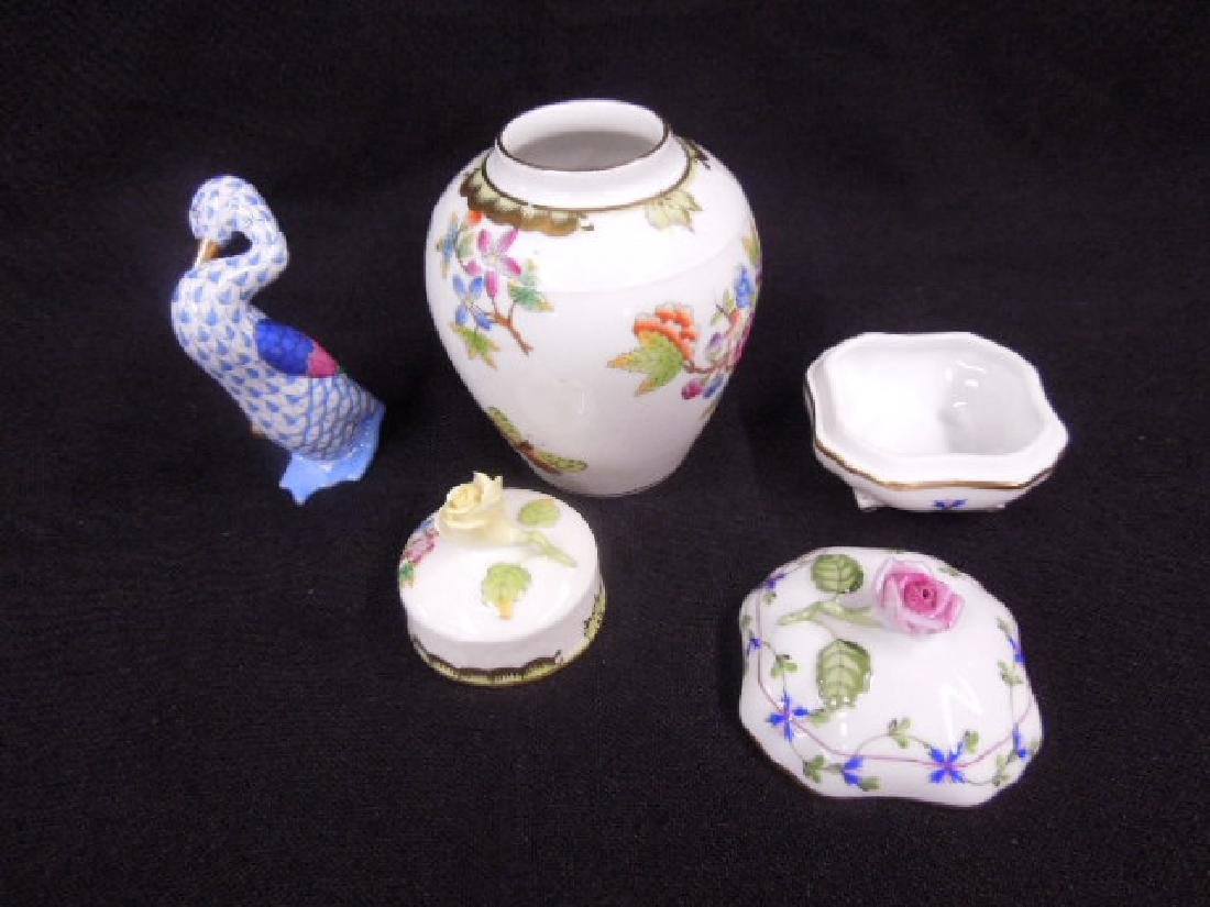 Contemporary Herend Porcelain Lot - 2