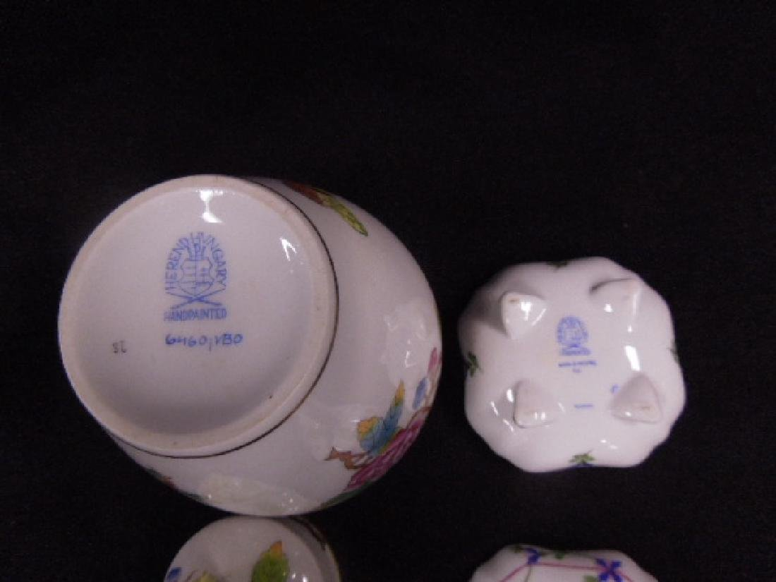 Contemporary Herend Porcelain Lot - 5
