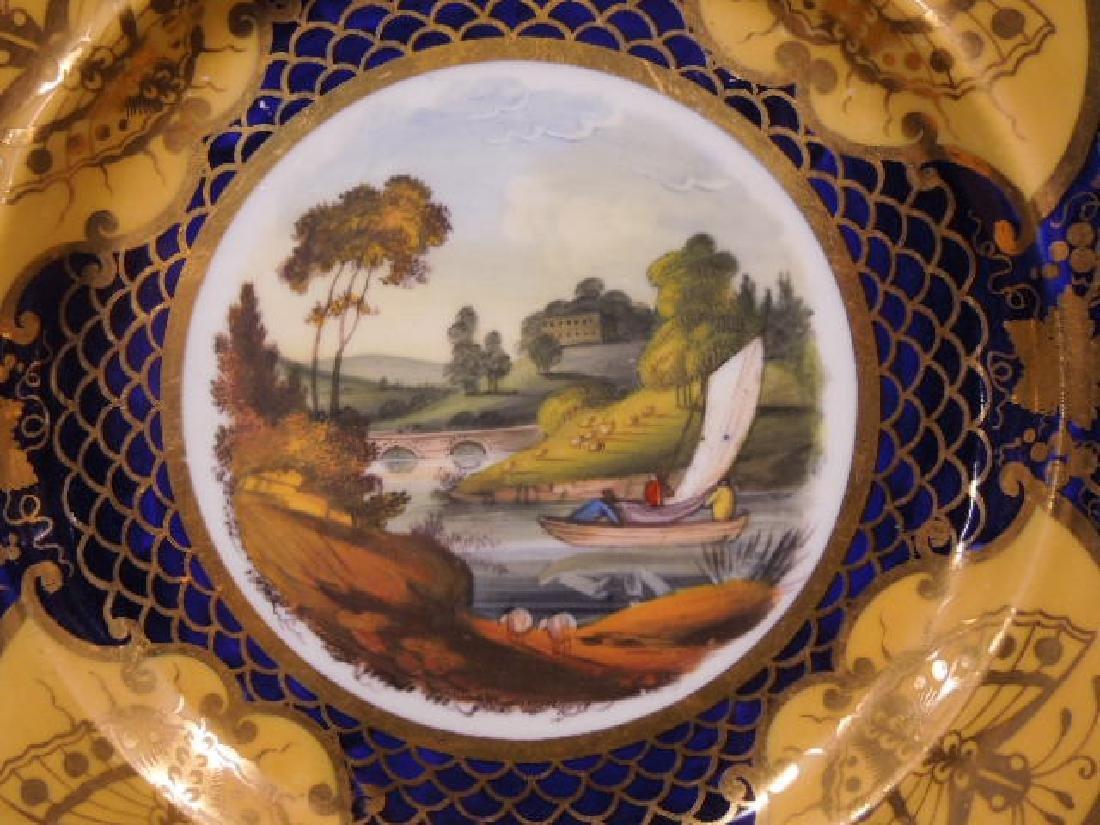 Pair 19th C. Worcester Porcelain Plates - 2
