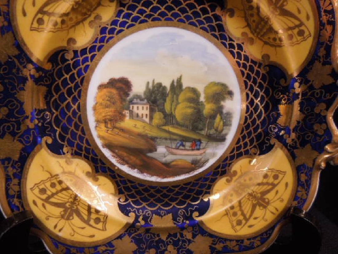 Pair 19th C. Worcester Porcelain Plates - 3