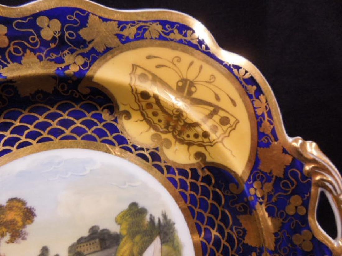 Pair 19th C. Worcester Porcelain Plates - 4