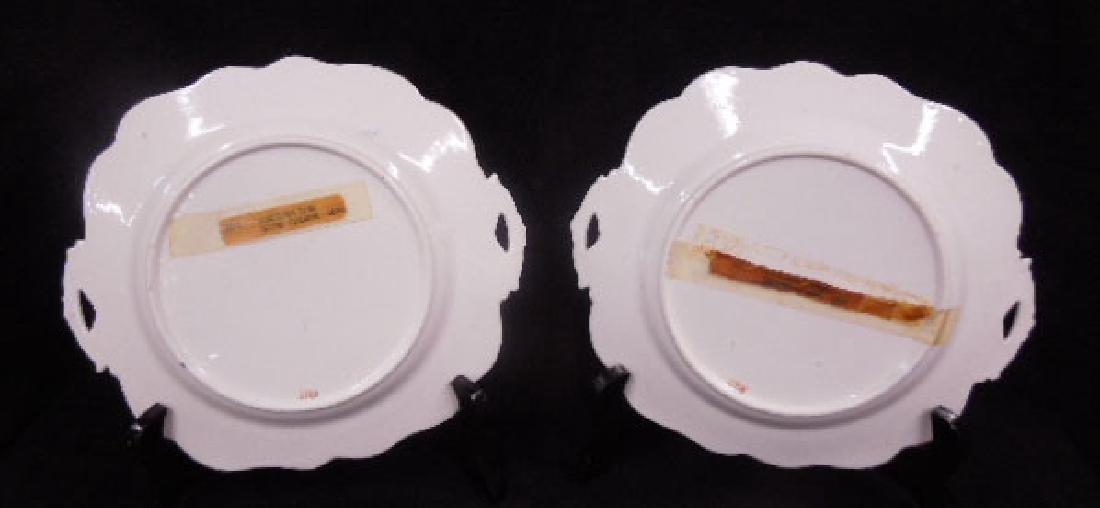 Pair 19th C. Worcester Porcelain Plates - 5