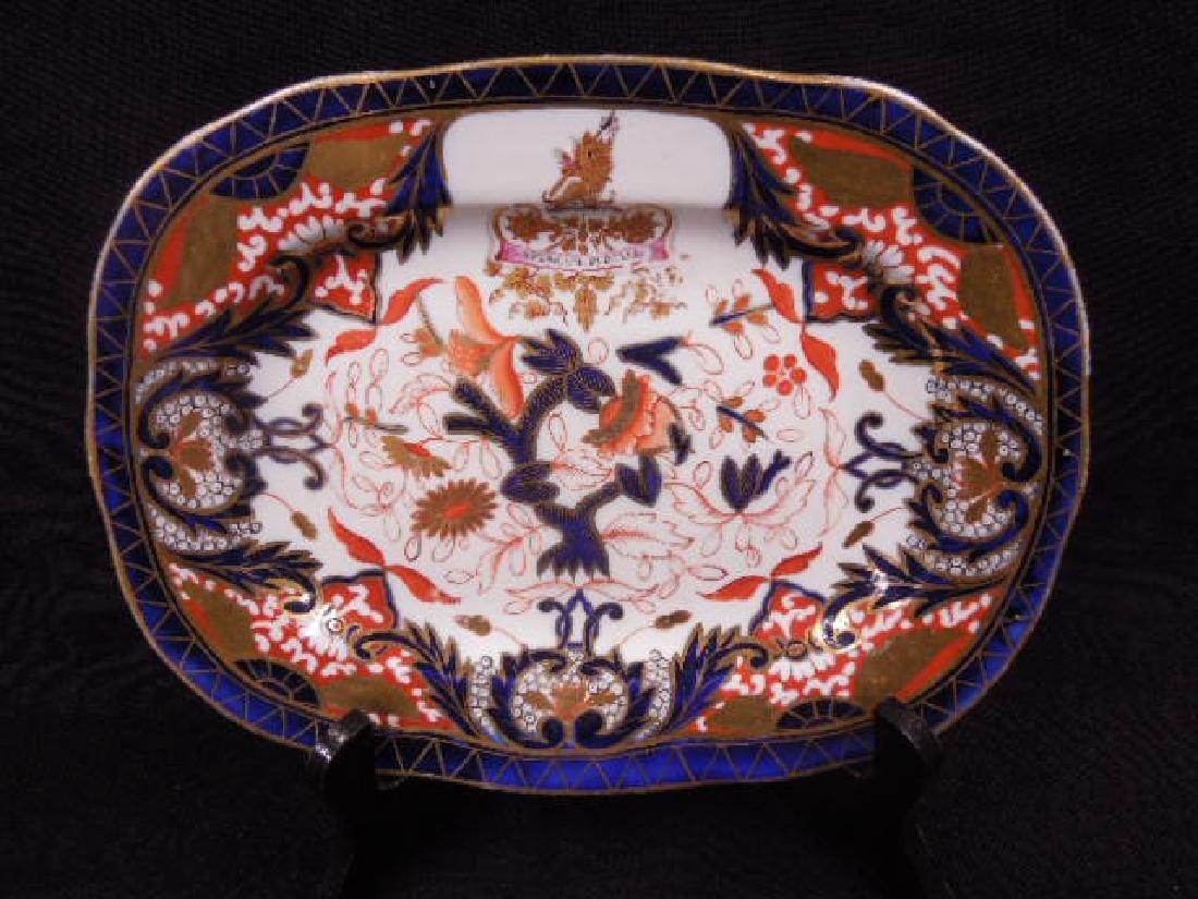 English Armorial Porcelain Platter