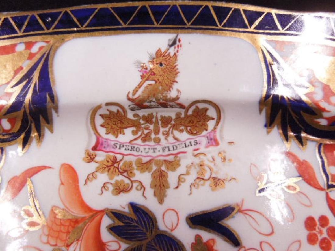 English Armorial Porcelain Platter - 2