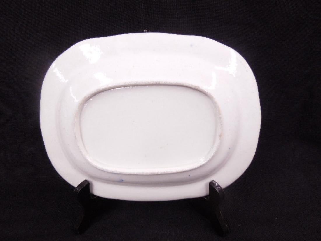 English Armorial Porcelain Platter - 3